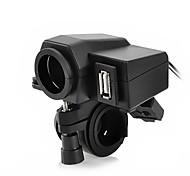 Jtron Motorcycle Waterproof Power Supply Adapter Cigrette Lighter Socket USB Terminal MC