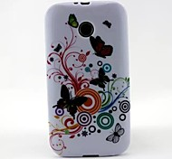 Music Butterfly Pattern TPU Soft Case Cover for Motorola Moto E