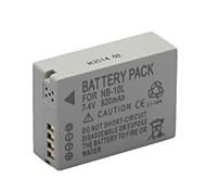 Kanon 920mAh Videorecorder-Akku NB-10L für anwendbar G1X sx40hs g15 g16