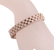 European Style Pearl Leather Bracelet