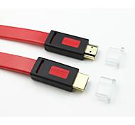 10m 32.8ft HDMI v1.4-Stecker auf HDMI V1.4 Stecker flach lila Kabel für 3D-TV-Computer-DVD versandkostenfrei