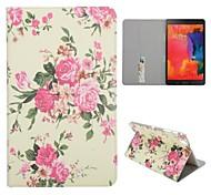 rose fentes pour cartes revers de la médaille se automatique de veille / sommeil étui en cuir pour Samsung Galaxy Tab 8.4 pro T320