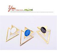 exageradas duplas triângulo multicolor brincos de venda gotejamento moda