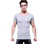 los hombres de verano para adelgazar faja de manga corta de ropa interior de control de la camisa de la panza firme busto vientre gris ny103