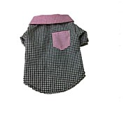 Pet Gentleman Plaid Shirt for Pet Dog