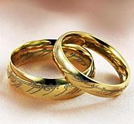 Для пары Кольца для пар бижутерия Титановая сталь Бижутерия Назначение Свадьба Для вечеринок Повседневные