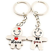(A pair)Love You Interesting Men's and Women's Symbol Interesting High-grade Stainless Steel Keychain Symbol of Love