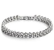 Fashion Platinum Zircon Diamond-Encrusted Bracelets(Silver)(1 Pc)