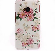 Elegant Flower Pattern Hard Case for HTC One M7
