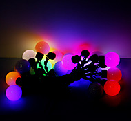 5M 20 LEDs Christmas Halloween decorative lights festive strip lights-RGB oversized ball lights (220V)