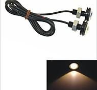 Carking™ 12V 1.5W 23MM Auto Car  LED Eagle Eye DayTime Running Light Reverse Lamp-Yellow Light
