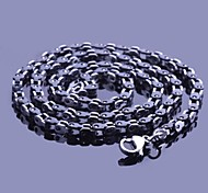 Men's Fashion Black Titanium Steel Chain Necklace