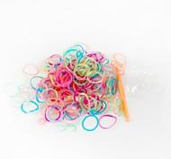 Green Loom Bands Random Color Rubber Band (200pcs Bands,12pcs S Hook,1pcs Crochet Hook)