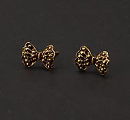 Fashion Bronze Big Bowknot Shape Stud Earring(1 Pair)