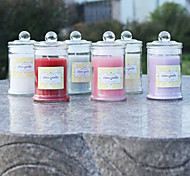 Sealed Cans Glass Candlestick Candles Wedding Romantic Valentine'S Day Birthday Aromatherapy 6 Colors To Choose