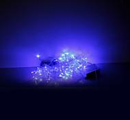 3x0.6x0.4M 100 LEDs Christmas Halloween decorative lights festive strip lights-Icicle light blue (220V)