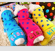 """Star Pattern """"Kiss"""" Printing Hoody Suit for Pet Dogs Assorted Colors Assorted Sizes"""