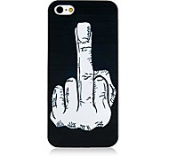 Middle Finger Pattern Back Case for iPhone 4/4S