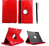 KARZEA™360 Degree Rotating Crocodile Print Case with Stand and Stylus for Samsung Galaxy Tab4' 10.1 T530