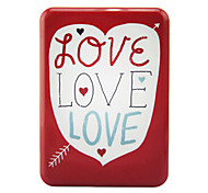 Kini BLD-20000M 10000mAh Love Heart External Battery with Velvet Bag for iphone5s\Samsung\Sony and Other Mobile Devices