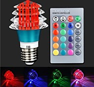 RGB Light LED With  Remote Controller - Blue  Red (85~265V)180lm 3W E27