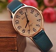 Women's Fashion Contracted Bright Skin Larger Numbers Watches(Assorted Colors)