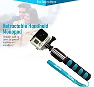 """TELESIN - 42.5"""" Retractable Remote Monopod for GoPro Hero 2 / 3 / 3+ / 4 - Black + Blue (without screw)"""