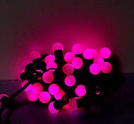 5M 50 LEDs Christmas Halloween decorative lights festive strip lights-Light purple beads (220V)