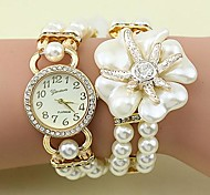 Women's Fashion Crystal Pearl Flower Shape Weaving Bracelet Watch(Assorted Colors) Cool Watches Unique Watches
