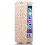 modelo del diamante TPU y cuero de la PU caso de cuerpo completo con soporte para el iphone 6 (colores surtidos)