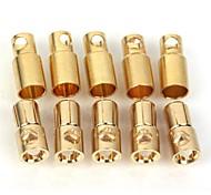 ZnDiy-BRY Gold Plated Banana Plug Jack Connector Set - Golden (6.0mm / 5 Pairs)