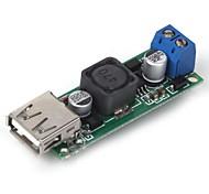 DIY DC 6~35V to 5V 3A USB Voltage Step Down Regulator Module - Green