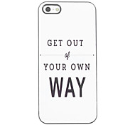 Get Out of You Own Way Design Aluminium Hard Case for iPhone 4/4S