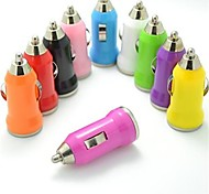 Colorful USB Car Charger for iPhone and Others (5V,1A)