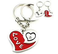 (A pair) Heart LOVE Interesting High-grade Stainless Steel Keychain Symbol of Love