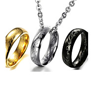 Magic Exquisite Verses Titanium Steel Men the Ring Necklace Jewelry