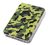 Kini BLD-AB3O 11200mAh Camouflage External Battery with Velvet Bag for iphone5s\Samsung\Sony and Other Mobile Devices