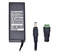 Xinyuanyang® 72W 12V 6A 3Round-Pin AC Power Supply 5.5 x 2.1mm DC Power Adapter for LED Light Strip - Black (100~240V)