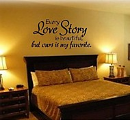 JiuBai™ Love Story Quote Wall Sticker Wall Decal, 58*88CM
