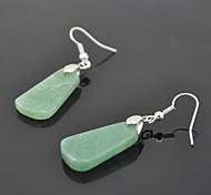 Toonykelly® Vintage Look Green Aventurine Dangle Earring(1Pair)