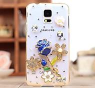joya diamante rosa caso de la contraportada para Samsung Galaxy i9600 s5
