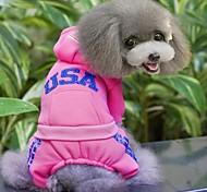 usa Design Kleidung mit Beinen für Hunde Haustiere (verschiedene Größen, Farben)