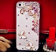 Diamant Schmetterling und Blütenblättern Rückseite Case für iPhone 4 / 4S