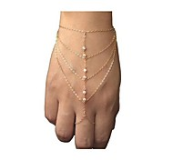 European Style Fashion Rhinestone Chain Bracelet with Ring