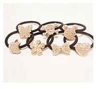 Sweet Temperament High-End Rhinestone Pendant Hair Ties Random Delivery