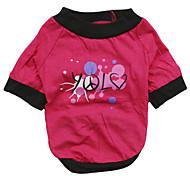 Gatos / Perros Camiseta Rosado Ropa para Perro Verano Letra y Número