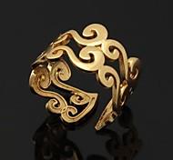 u7® anneaux millésime anneau de lettre or véritable 18 carats plaqué la mode d'hommes de femmes cadeau de bijoux redimensionnable