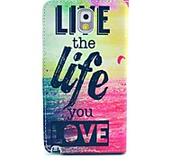 Sea Live Life Pattern PU Leather Case with Stand Card Holder for Samsung Galaxy Note 3 N9000