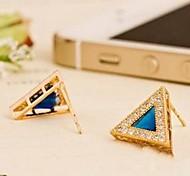 Popular Rare Earth Glass And Zircon Earrings