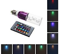 E26/E27 3 W Integrate LED 240 LM RGB Remote-Controlled Corn Bulbs AC 85-265 V
